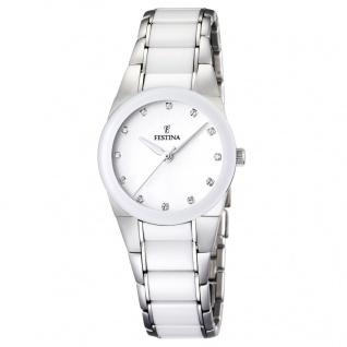 FESTINA F16534/3 KERAMIK Uhr Damenuhr kratzfestes Keramik weiß