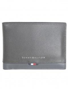 Tommy Hilfiger Herren Geldbörse Business Leather Extra Leder Grau