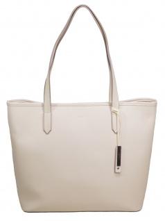Esprit Damen Handtasche Tasche Henkeltasche Farah shopper Elfenbein