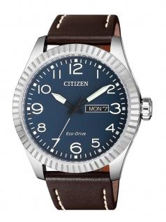Citizen BM8530-11L Uhr Herrenuhr Lederarmband Datum Braun