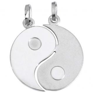 Basic Silber SL07 Anhänger Partneranhänger Yin Yang Silber