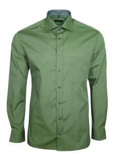 Eterna Herren Hemd Langarm Modern Fit Hemden 3070/46/X157 Grün XL/43