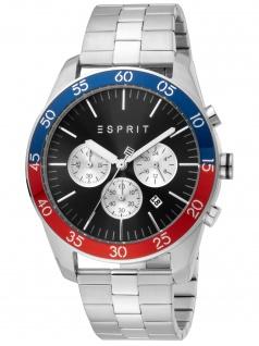 Esprit ES1G204M0085 Jordan Silver Black Uhr Herrenuhr Chrono Datum