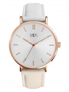 laVIIDA WVI2024R Vienna Uhr Damenuhr Lederarmband Beige
