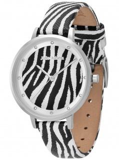 Julie Julsen JJW1203SL-Z Safari Zebra Uhr Damenuhr Leder schwarz