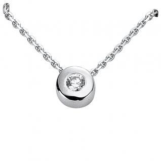 Basic Silber 21.2325 Damen Collier Silber Zirkonia weiß 42 cm