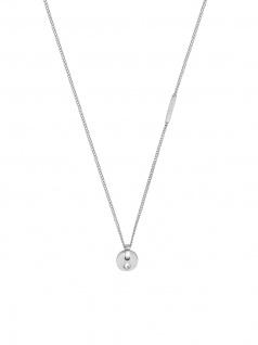 Esprit ESNL00552142 Damen Collier Mind Edelstahl Silber Weiß 45 cm