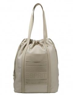 Esprit Damen Handtasche Tasche Shopper Darcy Drawstring Beige