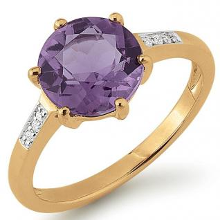Golden Times 53GT114 Damen Ring Amethyst 14 Karat (585) Gold 56 (17.8) - Vorschau 1