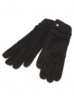 Esprit Damen Handschuhe Knit suede gloves Größe L Schwarz