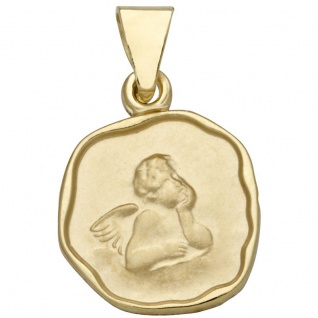 Basic Gold EN18 Kinder Anhänger Schutzengel 14 Karat (585) Gelbgold