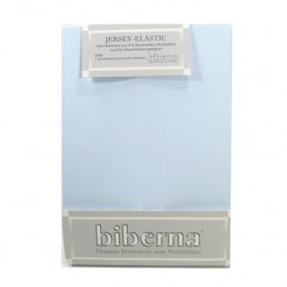 Biberna 77866-222 Jersey Elastic Spannbetttuch Hellblau 90x190 100x220