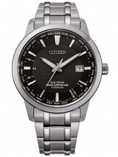 Citizen CB0190-84E Eco Drive Funkuhr Uhr Herrenuhr Titan Datum silber - Vorschau
