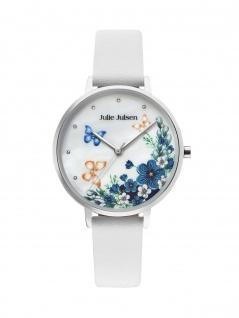 Julie Julsen JJW90SL-9 Uhr Damenuhr Lederarmband Weiß