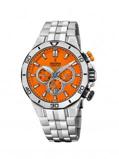 FESTINA F20448/C Chrono Bike Chronograph Uhr Herrenuhr Datum Silber