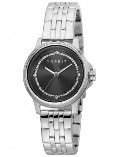 Esprit ES1L144M0065 Bent Black Silver MB Uhr Damenuhr Edelstahl silber
