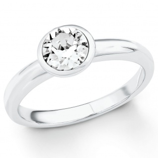s.Oliver 2018660 Damen Ring Sterling-Silber 925 Silber Weiß 56 (17.8)