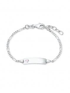Prinzessin Lillifee 2021116 Mädchen Armband Silber Rosa 14 cm