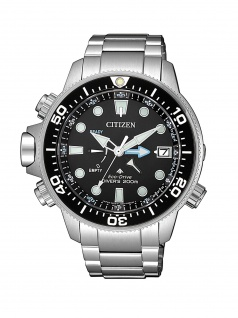 Citizen BN2031-85E Promaster Eco-Drive Taucheruhr Uhr Datum Silber
