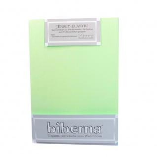 Biberna Jersey Elastic Spannbetttuch Pistaziengrün 180x200 200x220