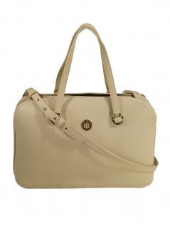 Tommy Hilfiger Damen Handtasche Tasche TH Core Satchel Beige