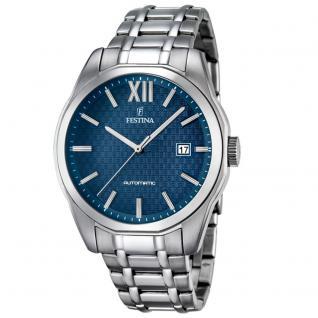 FESTINA F16884/3 Automatic Uhr Herrenuhr Edelstahl Datum silber
