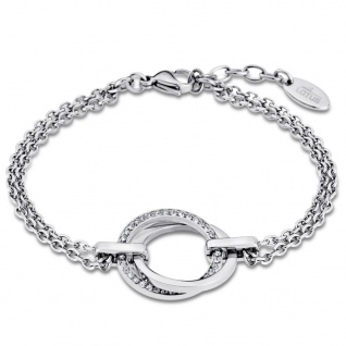LOTUS LS1780/2/1 Damen Armband Edelstahl Silber Weiß 21, 5 cm