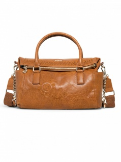 Desigual Damen Handtasche Tasche Dark Amber Loverty Braun