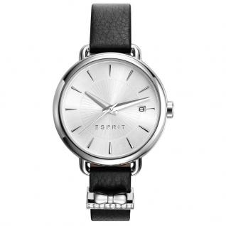 Esprit ES109402001 TP10940 BLACK Uhr Damenuhr Lederarmband schwarz