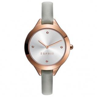 Esprit ES109392005 TP10939 TAUPE Uhr Damenuhr Lederarmband grau rose