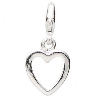 Basic Silber 22.VX130 Damen Charms Herz Silber