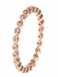 gooix 943-06729-580 Damen Ring Sterling-Silber 925 Rose weiß 58 (18.5)