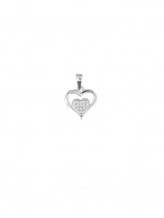 Basic Silber 82596 Mädchen Anhänger Herz Silber Weiß