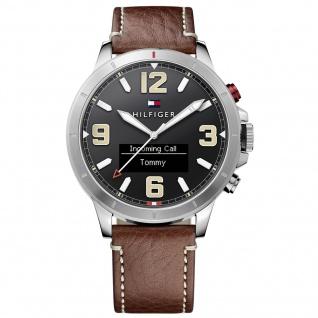 Tommy Hilfiger 1791296 SMARTWATCH Uhr Herrenuhr Lederarmband Braun