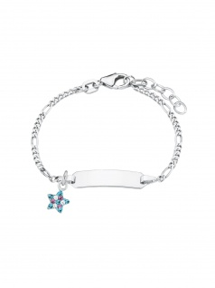Prinzessin Lillifee Armband Gravurarmband Stern Silber Blau 14 cm