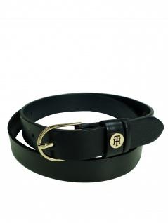 Tommy Hilfiger Damen Gürtel Classic Belt AW0AW05361-002 Schwarz 85 cm
