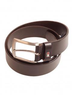 Tommy Hilfiger Herren Gürtel New Denton 3.5 Belt Leder 95cm Braun