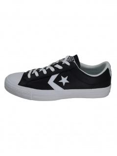 Converse Herren Schuhe Star Player Ox Schwarz Glattleder Sneakers 40