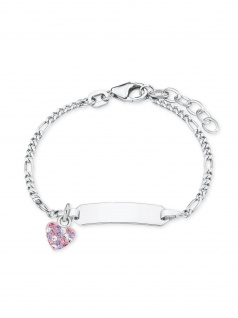 Prinzessin Lillifee Armband Gravurarmband Herz Silber Rosa 14 cm