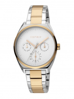 Esprit ES1L060M0095 Slice Multi Uhr Damenuhr Edelstahl Datum bicolor