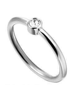Esprit ESRG00042417 Damen Ring Loris Edelstahl Silber Weiß 53 (16.9)