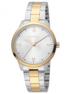 Esprit ES1L164M0075 Minimal Gold Uhr Damenuhr Edelstahl bicolor