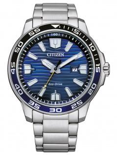 Citizen AW1525-81L Eco Drive Uhr Herrenuhr Edelstahl Datum silber