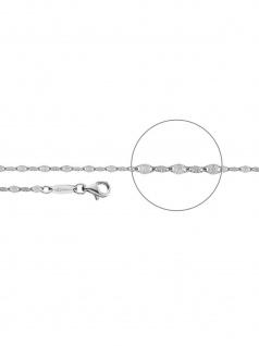 Der Kettenmacher PL-50S Plättchen Kette Silber 50 cm