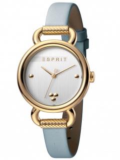 Esprit ES1L023L0025 Play Silver L.Blue SET Damenuhr Lederarmband Blau