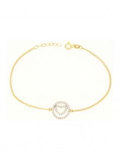 Gerry Eder 42.EG108 Damen Armband Herz 14 Karat (585) Gold Weiß 19 cm