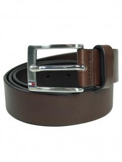Tommy Hilfiger Herren Gürtel NEW ALY Belt Leder 115cm Braun E367895011