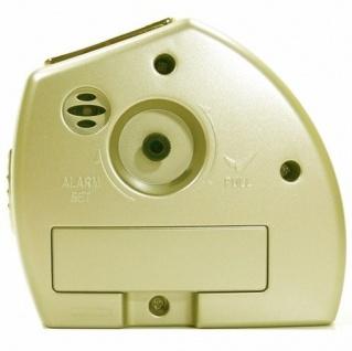 W&S 200902 Wecker Uhr champagner-weiß leise Sekunde Analog Licht Alarm - Vorschau 3