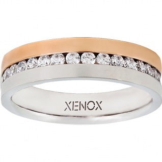 XENOX X2245-50 Damen Ring XENOX & friends Bicolor Rose Weiß 50 (15.9)