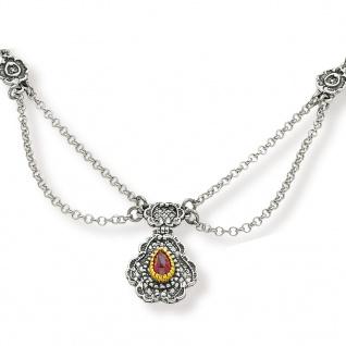 Tom Hill 16.9012 Damen Collier Silber bicolor Granat rot 48 cm